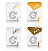 """PPT"" file type icon — Stock Vector"
