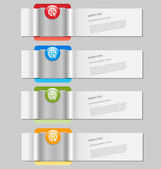 Infographics template with empty text boxes — Stock Vector