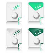 Icône de type de fichier iso — Vecteur
