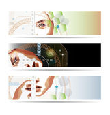 High-tech style illustrated banner set — Stock Photo