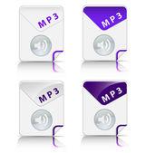 MP3 file type icon — Stock Vector