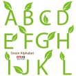 Eco-related decorative alphabet for multipurpose use — Stock Vector