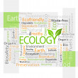 Ecology-related tag cloud vector illustration — Stock Vector