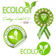 Ecology-related vector graphic element kit — Stock Vector #22816950