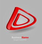 Abstract glossy 3D logo — Stock Vector