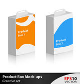 Product box mock-up — Stock Vector