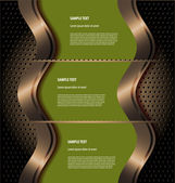 Stylized presentation template — Stock Vector