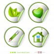 Green, eco, bio label, sticker set — Stockvectorbeeld