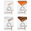 DLL file type icon - Stock Vector