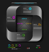 Presentación estilizada, plantilla de opción — Vector de stock