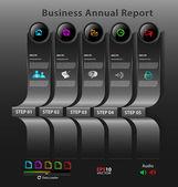 Stylized presentation,option template — Stock Vector