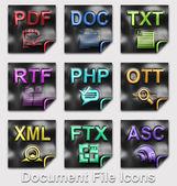 Document file type icons — Stock Photo