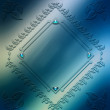 Stock Photo: Digitally painted elegant ornament frame design resource