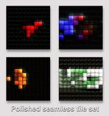 Gepolijst naadloze tegel instellen met abstracte soezen — Stockfoto