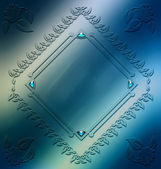 Digitally painted elegant ornament frame design resource — Stock Photo