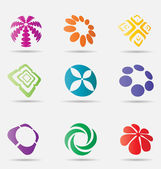 Abstract business icon collection — Stock Vector