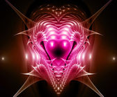 Multiple hearts. Computer generated fractal artwork. — Stock Photo