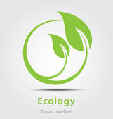 Ecology business icon — Stock Vector