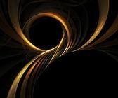 Gold rope.Computer generated fractal artwork. — ストック写真