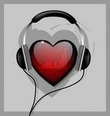 Usłyszeć twoje serce — Wektor stockowy