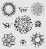 Dekorativní design a okrasné prvky — Stock vektor