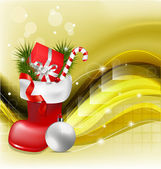 Christmas jackboot decorative background — Vector de stock