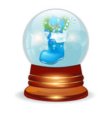 Christmas decorative snow ball — Stock Vector