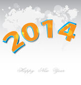 New Year 2014 background — Stock Vector