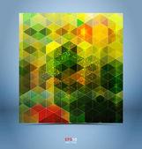 Modelo de cor preto-mosaico — Vetor de Stock