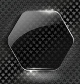 Abstract black background with glass element-frame — ストックベクタ