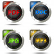 Elegant file type icon set — Stock Photo #41469389