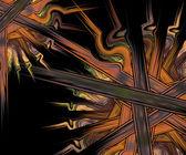 计算机生成的分形艺术作品 — 图库照片
