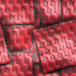 Luxury background with embossed pattern on leather — Stock Photo #46724557