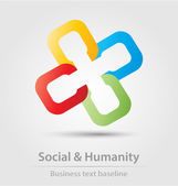 Social and humanity business icon — Stock Vector