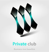 Private club business icon — Stock Vector