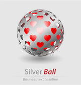 Silver ball elegant icon — Stock Vector