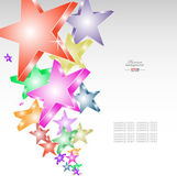 Candy stars creative background — Stock Vector