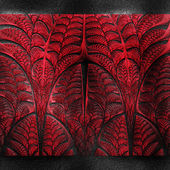 Luxury background with embossed fractal pattern on leather — Stock Photo