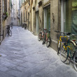 Foto Stock: Tuscstreets with bikes
