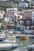 Boats at harbor in capri — Stock Photo