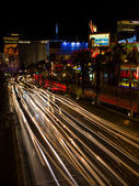 Light on the roads of las vegas nevada — Stock Photo
