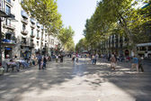 In the streets of barcelona spain — Stock Photo