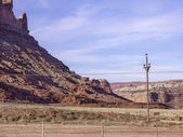 Rock cliff in moab — Stock Photo