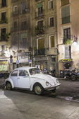 White beetle car in street — Stock Photo