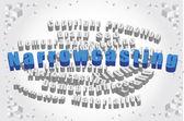 Image of word narrowcasting — Stock Photo
