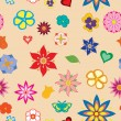 Stock Vector: Multicolored flower seamless pattern