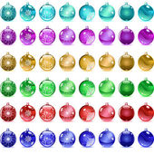 Multicolored Christmas balls — Vector de stock
