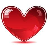 Red shiny heart — Stock Vector