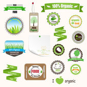 Organic labels, logos and stickers — Stock Vector