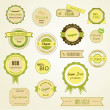 Royalty-Free Stock Vector Image: Organic labels, logos and stickers